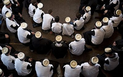 Illustrative image of dervishes, followers of Sufism a mystical form of Islam that preaches tolerance and a search for understanding, pray during a ceremony marking Nowruz day in the Tekke's prayer room in the southern Kosovo town of Prizren on March 22, 2018. (AP Photo/Visar Kryeziu)