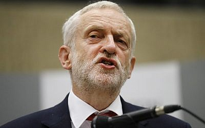 Britain's Labour Party leader Jeremy Corbyn speaking after he retained his parliamentary seat in Islington north London, June 9, 2017. (AP Photo/Frank Augstein, File)