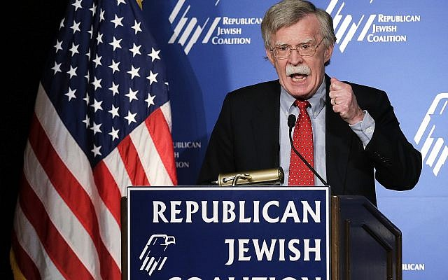 Former US ambassador to the U.N. John Bolton speaks at the Republican Jewish Coalition Saturday, March 29, 2014, in Las Vegas. (AP/Julie Jacobson)