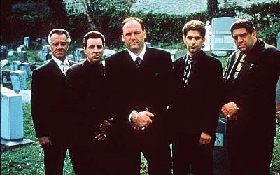 "From left, Tony Sirico, Steven Van Zandt, James Gandolfini, Michael Imperioli and Vicint Pastore, shown in this undated photo, star in the HBO drama series ""The Sopranos."" (AP /HBO, Anthony Neste)"