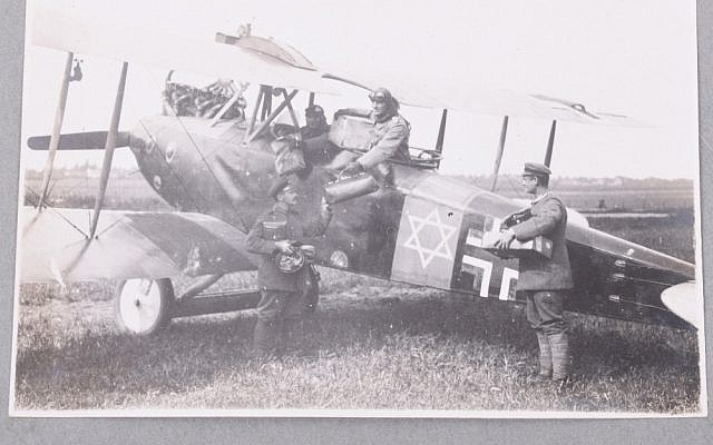 German World War I aviator Lt. Adolf Auer pained a Star of David on his plane in response to anti-Semitic comments by future Nazi Hermann Goering. (Courtesy)