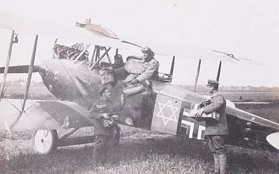 German World War I aviator Lt. Adolf Auer painted a Star of David on his plane in response to anti-Semitic comments by future Nazi Hermann Goering. (C&T auctions)