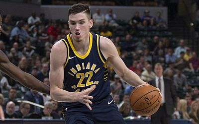 Indiana Pacers player T.J. Leaf's father also played for the Pacers before moving to Israel, where T.J. was born. (Courtesy)