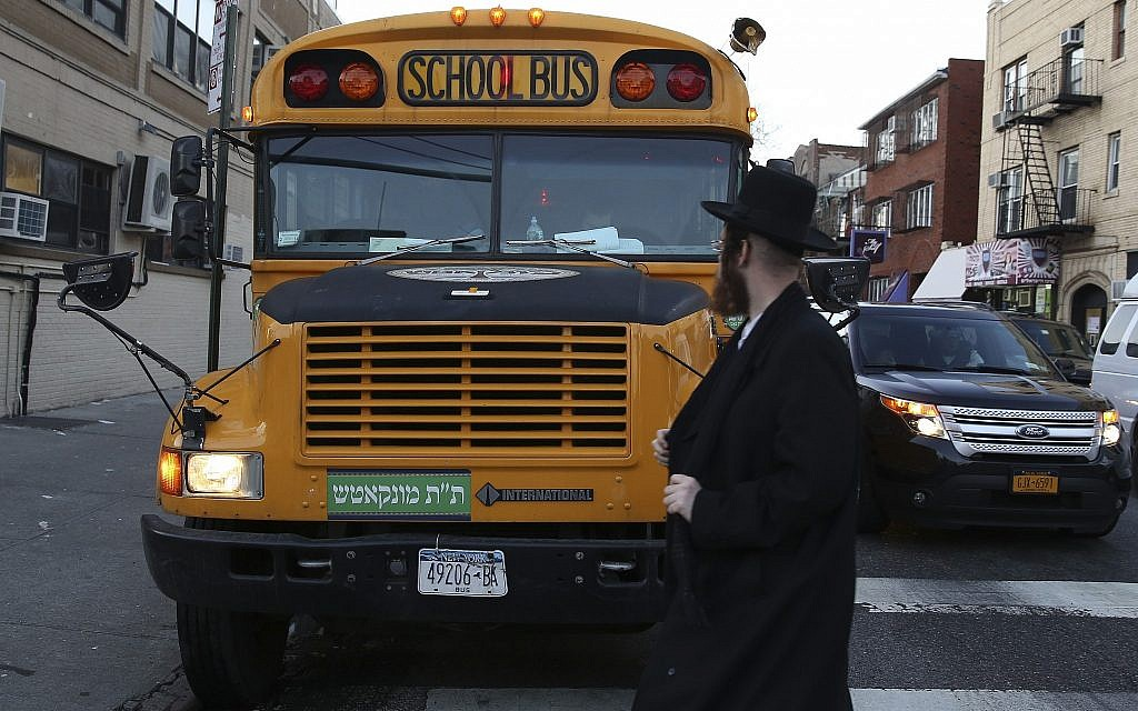 Bus carrying Hasidic boys to retreat in the Catskills flips over, injuring 18