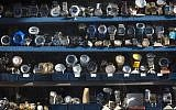 Watches for sale at the market in Jaffo-Tel Aviv. January 3, 2016. (Esther Rubyan/FLASH90)