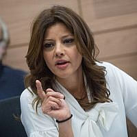 MK Orly Levy-Abekasis attends a Knesset committee meeting on March 15, 2017.(Miriam Alster/Flash90)