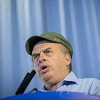 Jewish Agency head Nathan Sharansky to new immigrants on August 15, 2017. (Miriam Alster/Flash90)