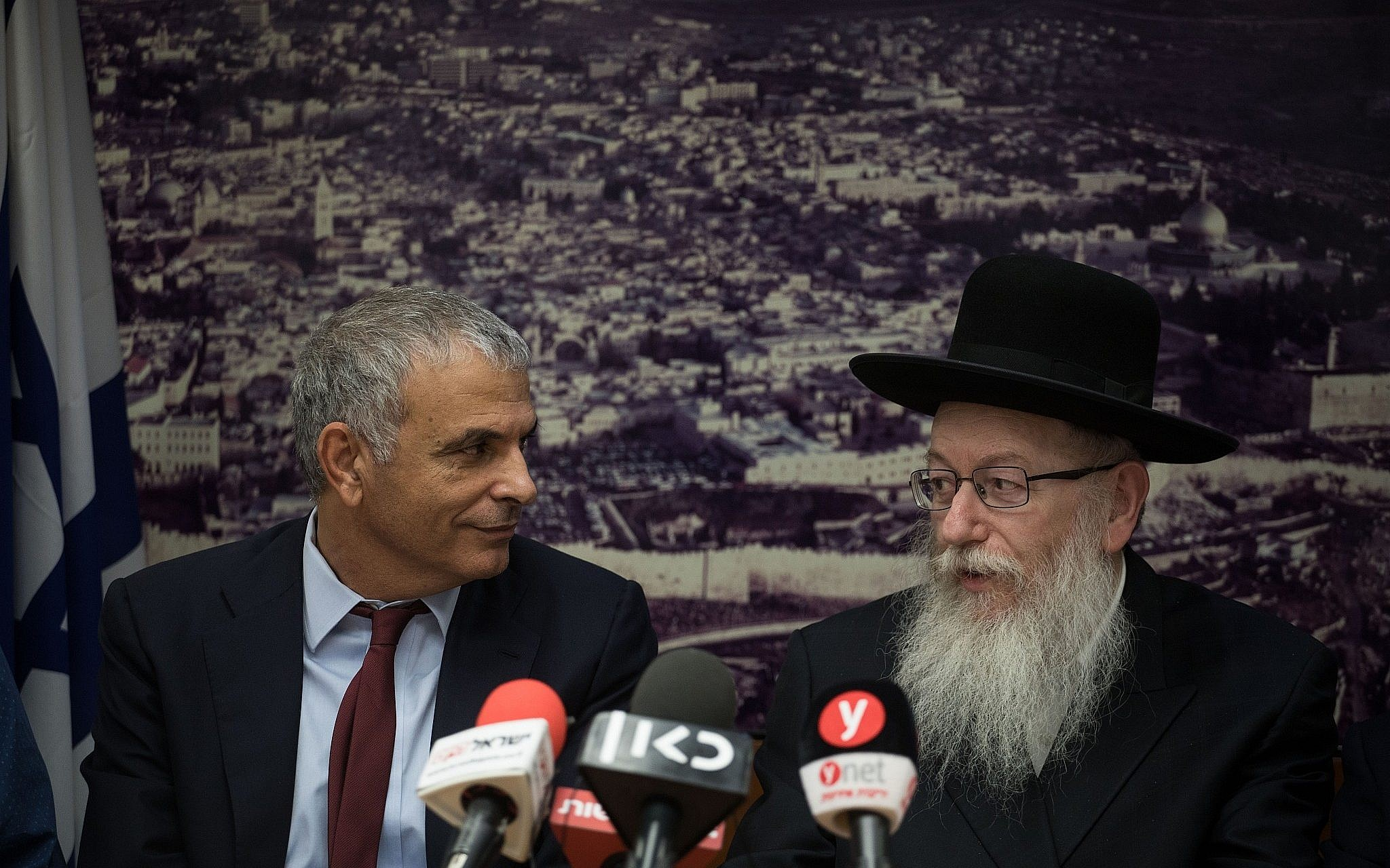 Israeli leader opens Jerusalem exhibit, rebukes opponents