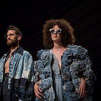 Designs for Tel Aviv Fashion Week by Shenkar students, revealed during a runway rehearsal (Miriam Alster/Flash 90)