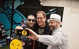 Rabbi Mordechai Lightstone, left, with 2017 SXSW attendees Jeff Pulver and Marc Fischman (Photo: Gyp C Girl Photography)