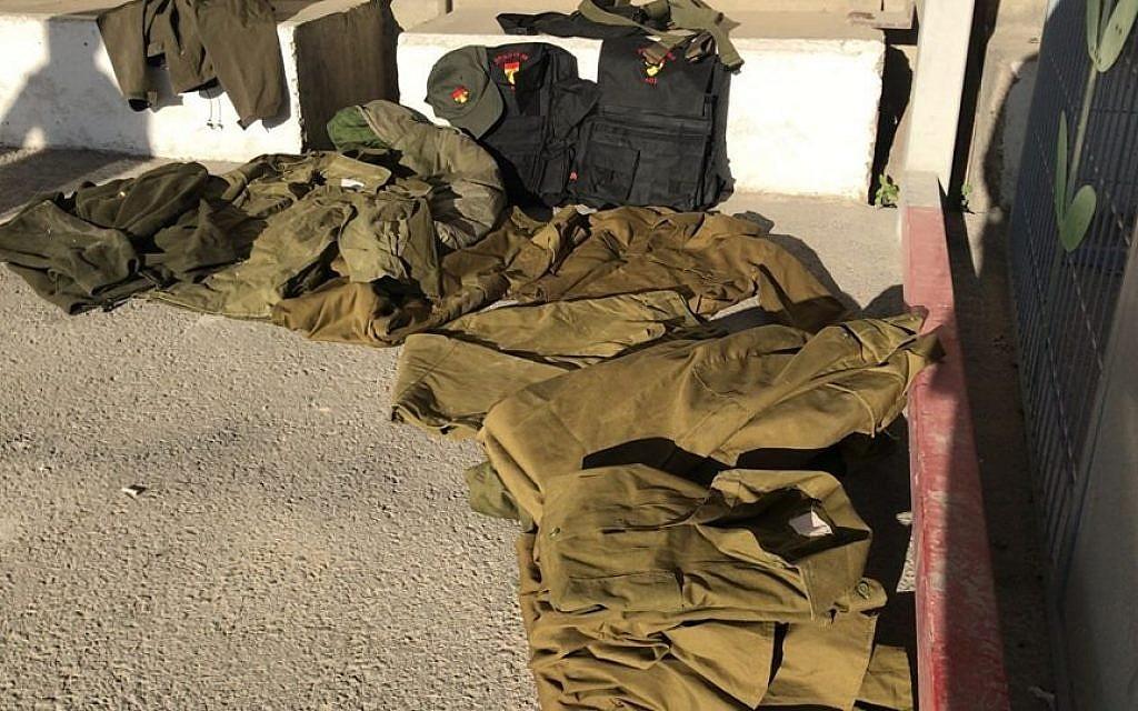 IDF uniforms found being smuggled into Gaza