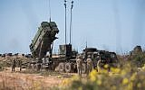 American, Israeli troops deploy a Patriot missile defense battery during the 2018 Juniper Cobra air defense exercise in March 2018. (Israel Defense Forces)