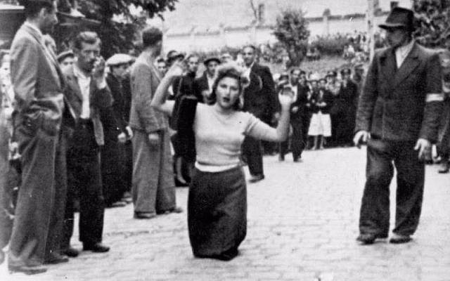 The July 1941 pogrom in Lviv (or Lvov), in Ukraine, when 4,000 Jews were massacred (public domain)