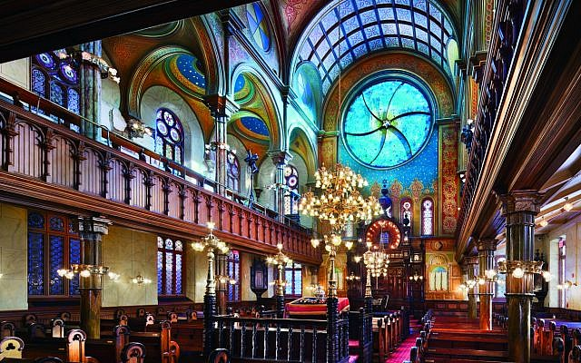 Interior of the main sanctuary of New York's Eldridge Street Synagogue. (Peter Aaron)