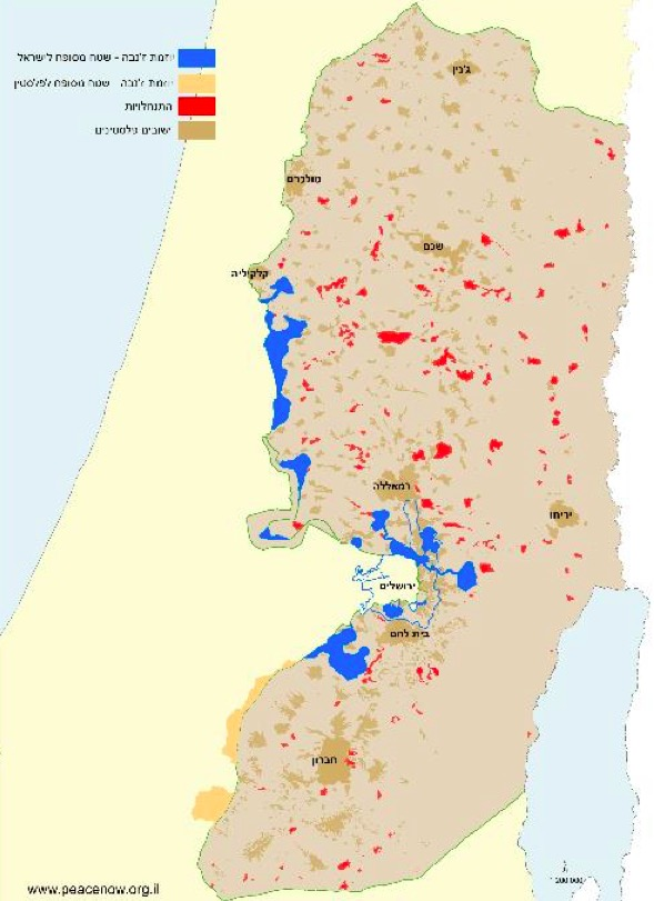 Most new West Bank homes being built in 'isolated settlements ... Kdumim Road Map West Bank on