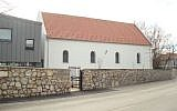 A newly renovated former synagogue building and a modern virtual exhibition center has opened to the public in the western Hungarian town of Balatonfüred, March 20, 2018. (Agnes Bohm via JTA)