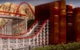 The People of the Book roller coaster at the planned Pla'im theme park in Dimona (Courtesy Pla'im Park)