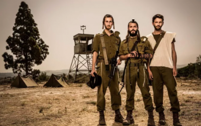 Yaakov (left), Gur Aryeh and Amram, the three main characters of 'Kipat Barzel,' one of the newest productions to emerge from Avner Bernheimer's laptop (Courtesy 'Kipat Barzel')
