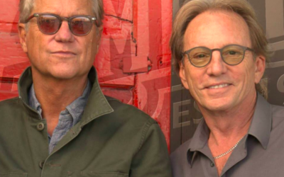 Gerry Beckley (left) and Dewey Bunnell of America, the 1970s band that will perform in Israel in October. (Official Facebook page)