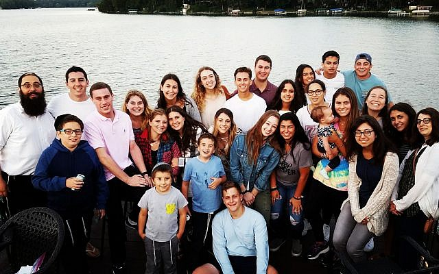 Students at the University of Wisconsin-Madison at an event sponsored by Chabad on campus. (Courtesy Chabad UW-Madison)