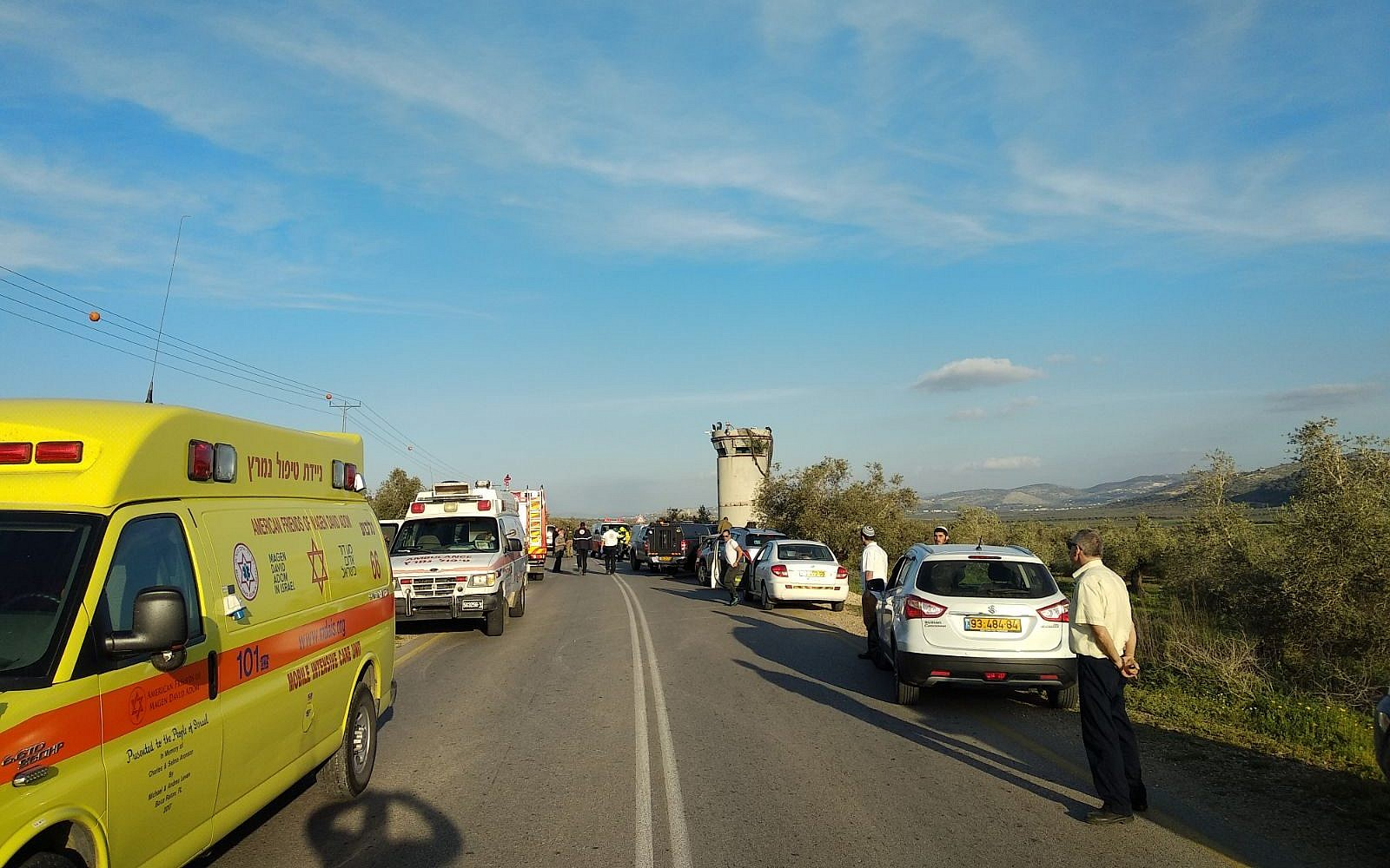West Bank on lockdown after 'car ramming kills two'