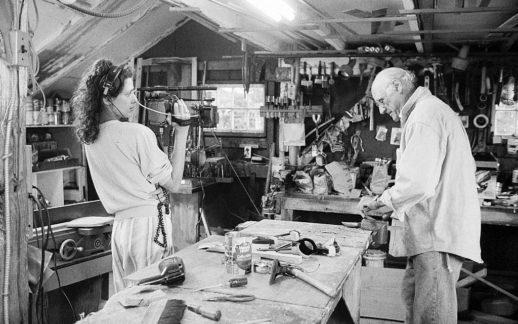 Rebecca Miller filming her father. (Inge Morath/The Igne Morath Foundation/Magnum Photos/HBO/via JTA)