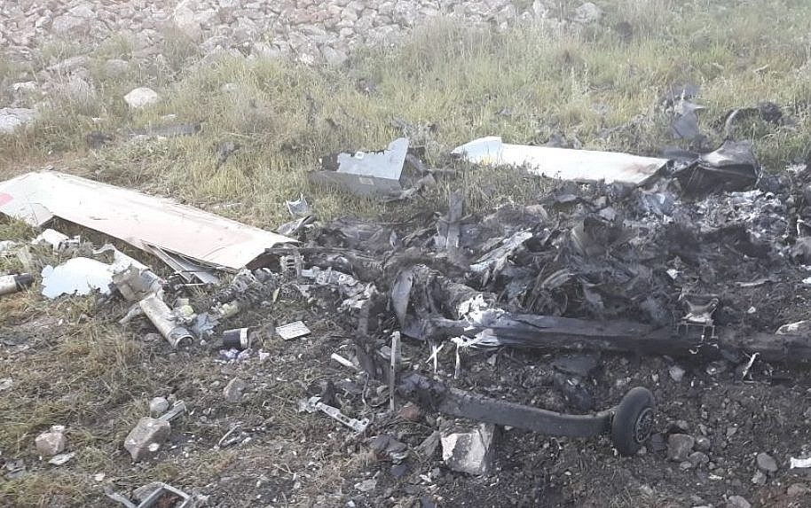 Israel spy drone crashes S. Lebanon