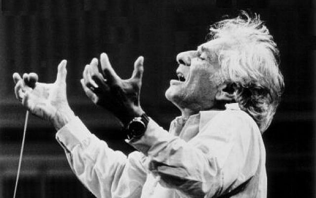 Leonard Bernstein conducting. (Paul de Hueck/ The Leonard Bernstein Office, Inc.)