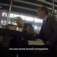 Cambridge Analytica executives filmed on hidden camera boasting of using British, Israeli spies. (Screen capture: Channel 4)