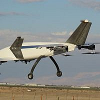 APG's Peres drone has four engines that allows it to fly both vertically and horizontally (APG)
