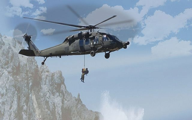 An illustration of Elbit's search and rescue systems in use (Courtesy)
