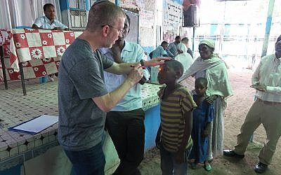 The makeshift eye clinic in Gondar. (Zack Hartstein)