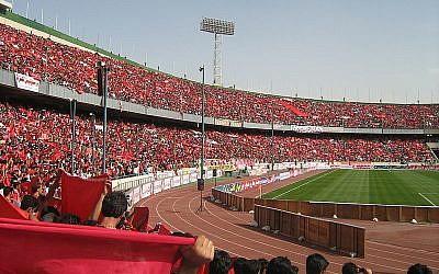 Tehran's Azadi stadium. (Wikimedia commons)