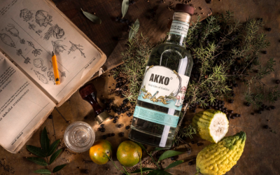 Jullius Distillery's Akko Gin, made from a base of grapes, which renders it kosher for Passover (Courtesy Jullius Distillery)
