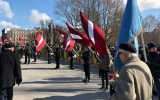A view of the annual march on the Remembrance Day of the Latvian Legionnaires in Riga, Latvia, on March 16, 2018. (LTA Zinu dienests/Twitter via JTA)