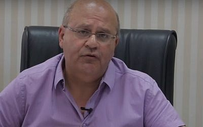 Chezy Levy, CEO and medical director of Barzilai Hospital, Ashkelon. (YouTube screenshot)