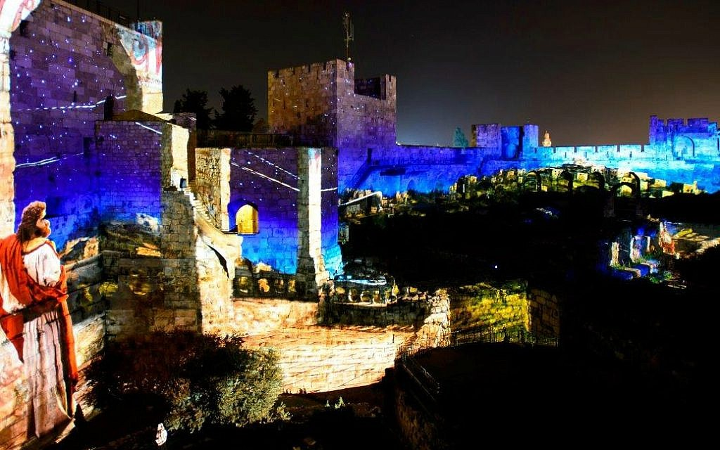 In Jerusalem's Old City, futuristic hi-tech illuminates ancient biblical past