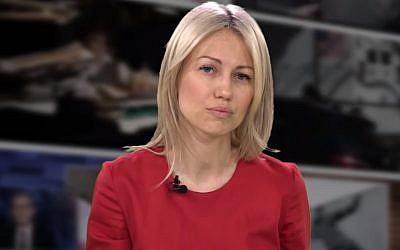 Former Polish presidential candidate and current television host Magdalena Ogórek. (Screen capture: YouTube)