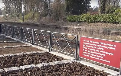 A memorial to the 86 residents of the French village of Ascq murdered on April 1, 1944, in Ascq, France, by the Waffen-SS. (YouTube screenshot)