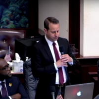 Jared Moskowitz speaking in the Florida legislature, March 7, 2018. (Screenshot from YouTube)