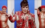 Netta Barzilai, Israel's contestant in the 2018 Eurovision. (screen capture: YouTube)