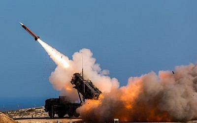 Illustrative. In this November 8, 2017 photograph released by the US Department of Defense, German soldiers assigned to Surface Air and Missile Defense Wing 1 fire the Patriot weapons system at the NATO Missile Firing Installation, in Chania, Greece. US defense giant Lockheed Martin says the company is delivering its Patriot anti-missile system to Saudi Arabia and that the kingdom is on track to become the second international customer, after the United Arab Emirates, to acquire its THAAD system. (Sebastian Apel/US Department of Defense, via AP)