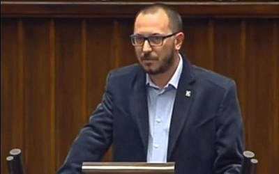 Right-wing Polish lawmaker, Paweł Skutecki. (YouTube screenshot)