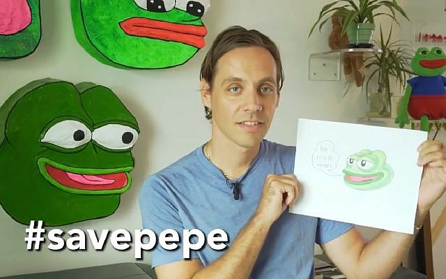 Matt Furie, creator of Pepe the frog in 2016. (Screen capture: YouTube)