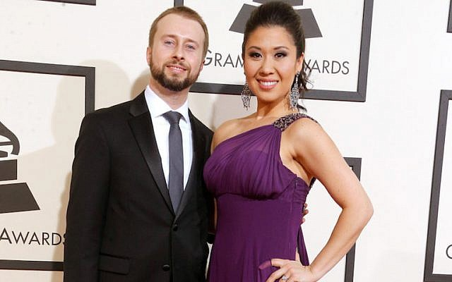 Musicians Jonathan Blumenstein (L) and Ruthie Ann Miles attend The 58th GRAMMY Awards at Staples Center on February 15, 2016 in Los Angeles, California.  (Larry Busacca/Getty Images for NARAS)