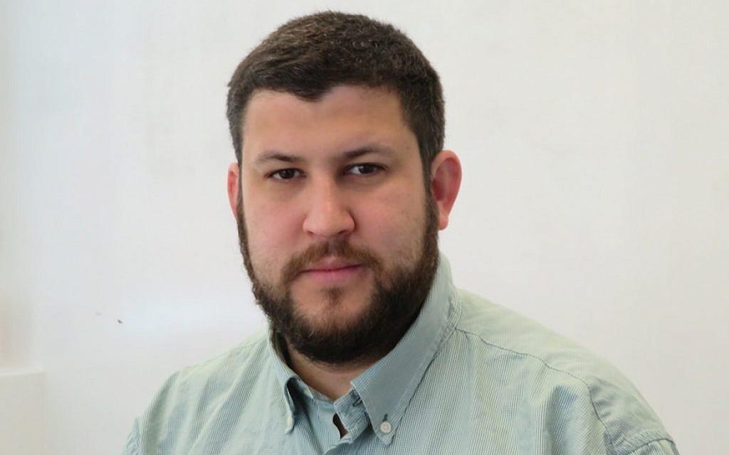 David Smolansky, a leader in exile of Venezuela's opposition, in Washington, DC, March 12, 2018. (Ron Kampeas)