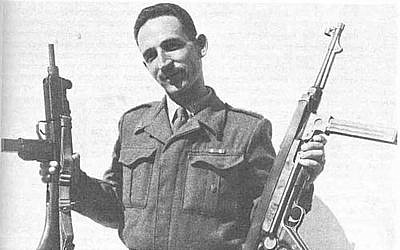 Uzi Gal and his Uzi (via National Library of Israel)