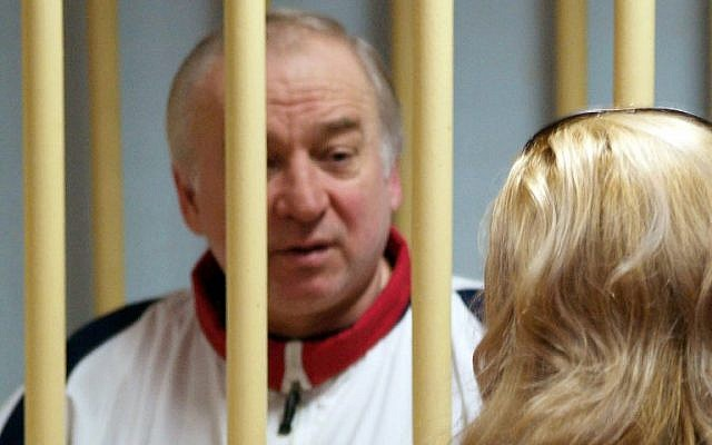 Former Russian military intelligence colonel Sergei Skripal attends a hearing at the Moscow District Military Court in Moscow on August 9, 2006. (AFP/Kommersant Photo/Yuri Senatorov)
