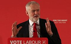 Britain's opposition Labour party leader Jeremy Corbyn speaks during the launch of Labour's local election campaign in central London on April 9, 2018. (AFP PHOTO / Daniel LEAL-OLIVAS)