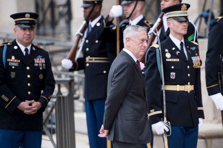 Mattis on Syria: I don't rule anything out